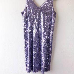 NWT Metallic Lilac Gianni Bini Cocktail Dress